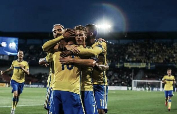 Denmark U21's 1-4 Sweden U21's: Swedes seal their place in Tuesday's final with emphatic victory