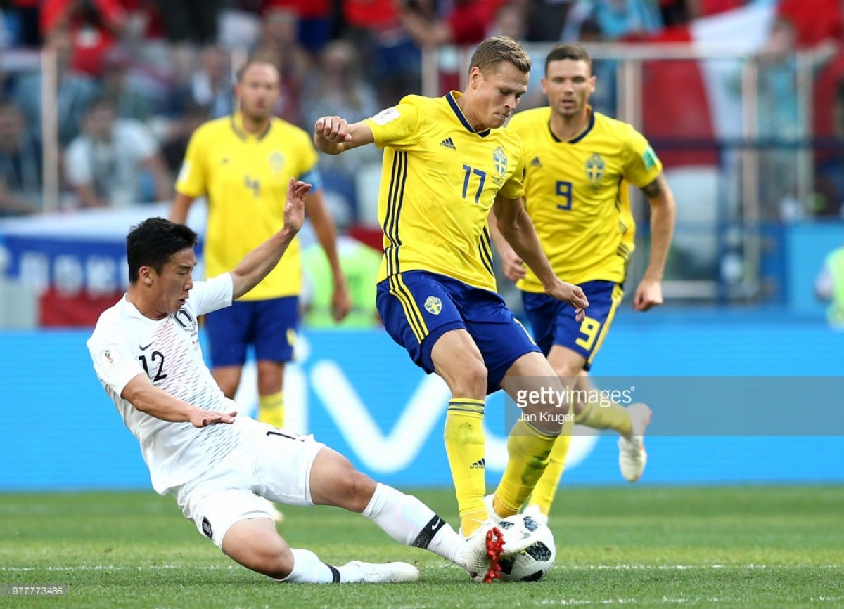 Sweden 1-0 South Korea: Granqvist spot-kick the difference as Swedes grab win