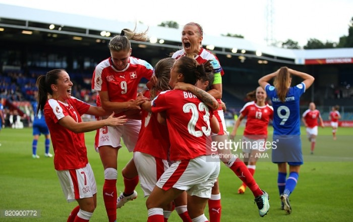 Euro 2017: Iceland 1-2 Switzerland - Swiss find first points of the tournament