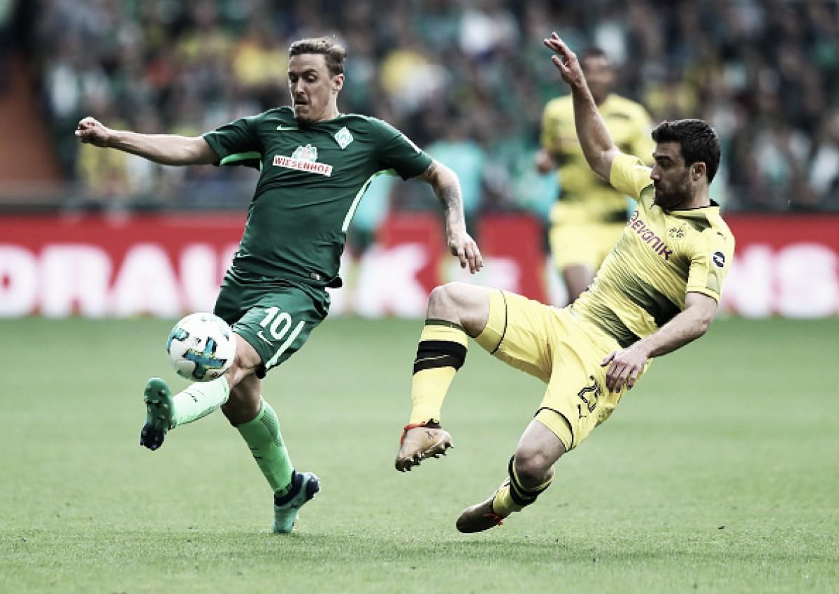 Werder Bremen e Borussia Dortmund empatam em grande partida de goleiro Pavlenka
