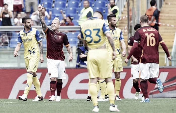 Roma - Chievo Verona in Serie A 2016/17 (3-1): La Roma batte il Chievo Verona
