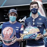 """Alonso lamenta ausência de pontos de Russell na Áustria após ultrapassagem: """"Me senti mal por ele"""""""