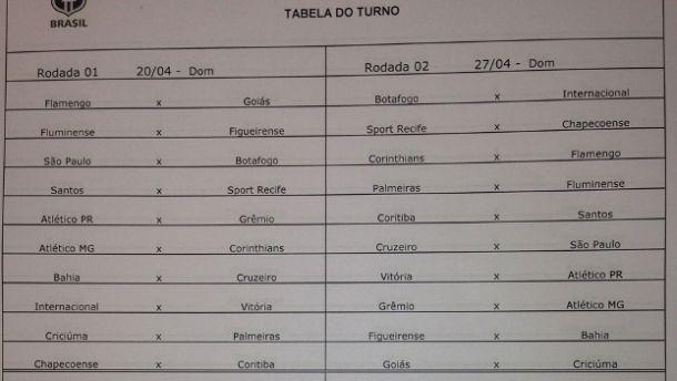Sem Portuguesa, CBF divulga tabela do Campeonato Brasileiro
