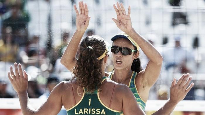 Em jogo tranquilo, Larissa e Talita batem russas Ukolova e Birlova
