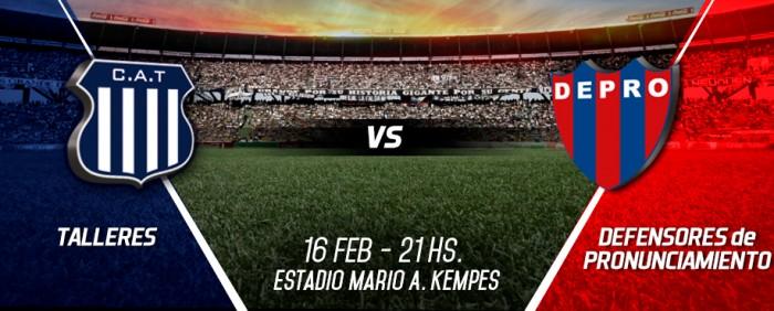 Resultado Talleres 3-2 Defensores por la Copa Argentina 2016
