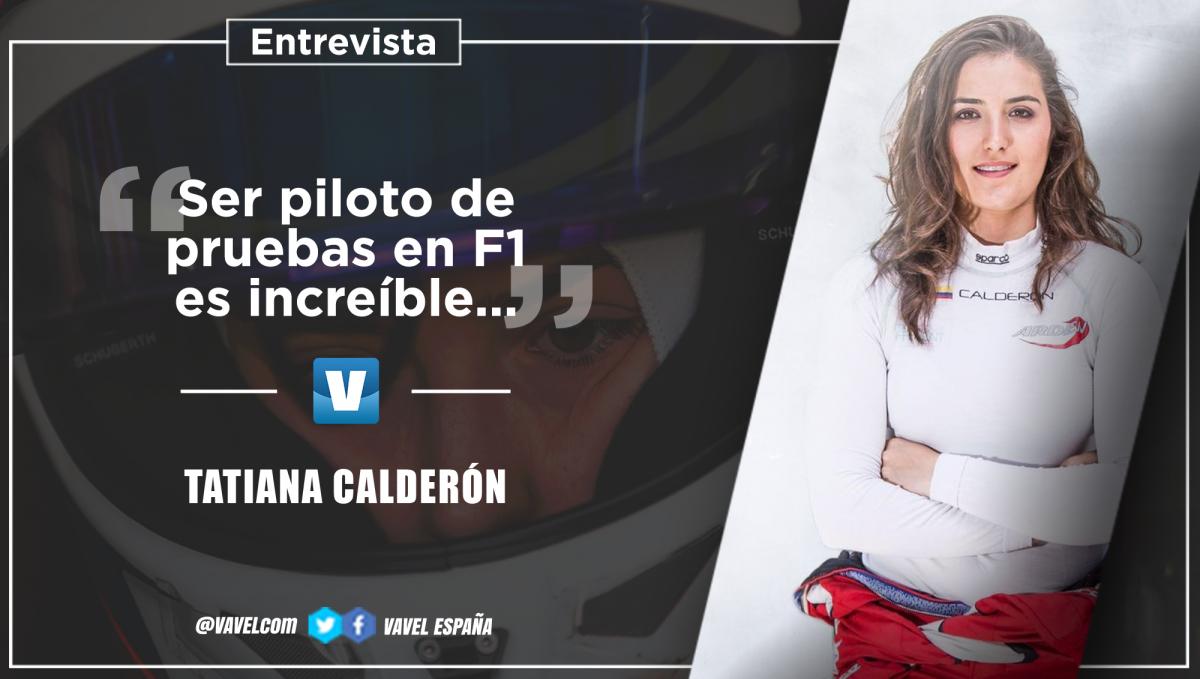 """Entrevista a Tatiana Calderón: """"Ser piloto de pruebas de un equipo de Fórmula 1 es increíble"""""""