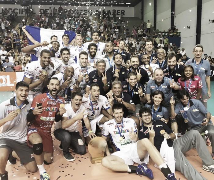 Taubaté bate Sesi e se sagra bicampeão da Copa do Brasil masculina de vôlei