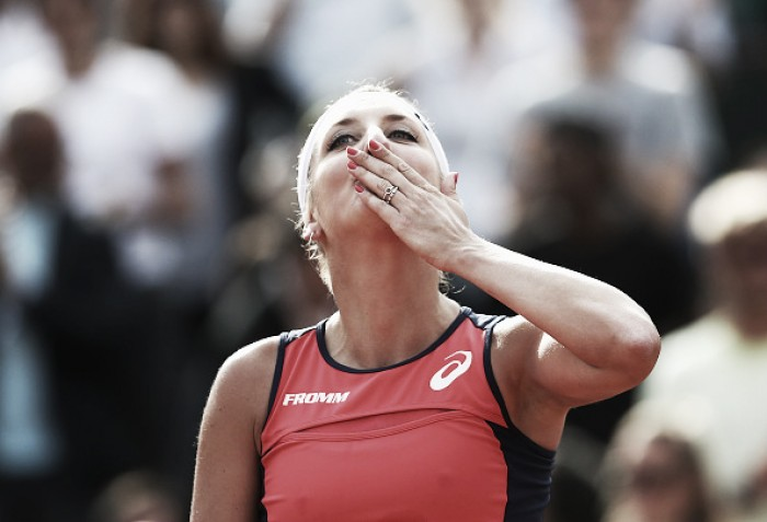 French Open: Timea Bacsinszky moves past Venus Williams to reach her third successive quarterfinal in Paris
