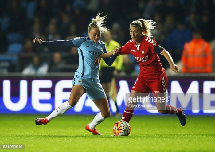 Toni Duggan reacts to UEFA Women's Champions League progression