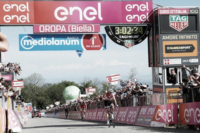Giro d'Italia, Dumoulin vince di forza a Oropa e allunga in rosa