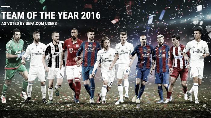 Uefa, nella Squadra dell'Anno 2016 i due azzurri Buffon e Bonucci