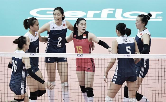China vence Holanda, se classifica em primeiro e leva Brasil às semifinais do Grand Prix