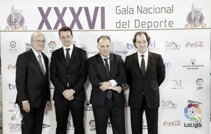 Tebas ensalza la gestión del Málaga CF