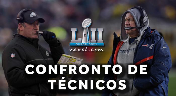Emergentes perante consolidados: duelo entre comissões técnicas de Patriots e Eagles