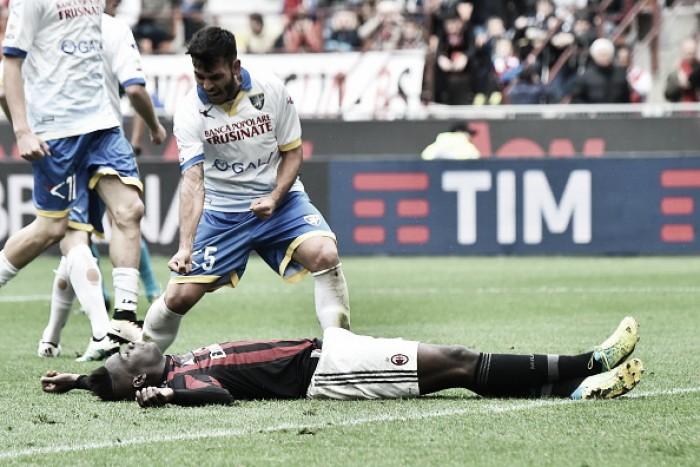 Balotelli perde pênalti, Alex falha e Milan empata com quase rebaixado Frosinone