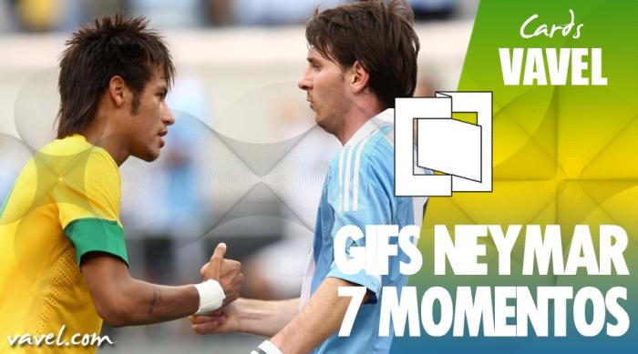 GIFS: 7 grandes momentos de Neymar contra a Argentina