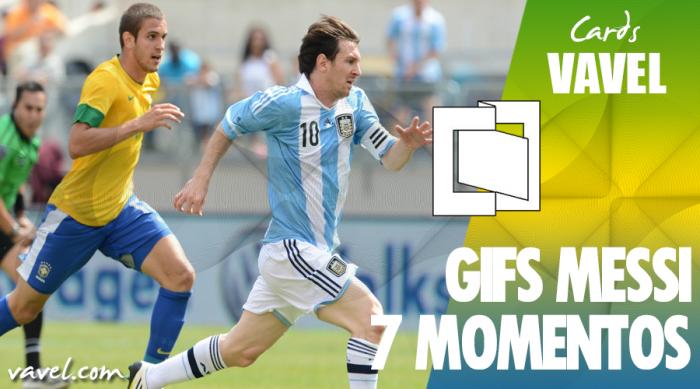 GIFS: 7 grandes momentos de Messi contra o Brasil