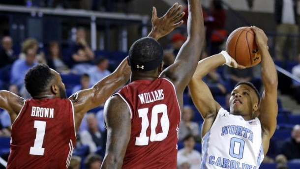 Meeks Drops 26, Leads North Carolina Over Temple in Veterans Classic