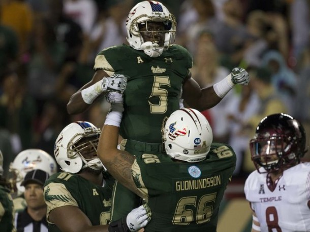 USF Routs #22 Temple Thanks to Huge Performance From Marlon Mack