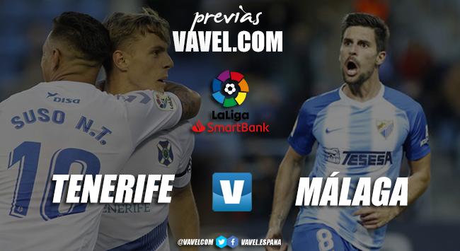 Previa CD Tenerife Vs. Málaga CF: el primer test de la temporada