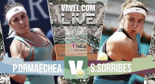 Paula Ormaechea vs Sara Sorribes en vivo y en directo online en Copa Federación 2015