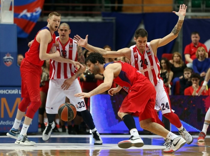 Eurolega - Al CSKA gara 1: Stella Rossa al tappeto con Teodosic ed Hines (84-74)