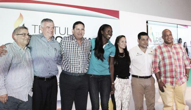 Caterine Ibargüen y Cecilia Baena presentes en la tertulia deportiva de Cartagena