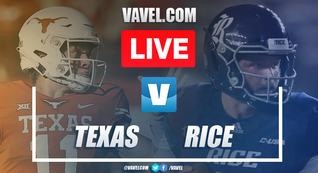Texas Longhorns vs Rice Owls: LIVE Stream Online TV and Score Updates (31-0)