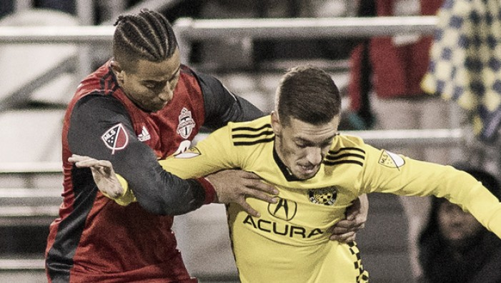 The first leg ends in a stalemate between Columbus Crew SC and Toronto FC