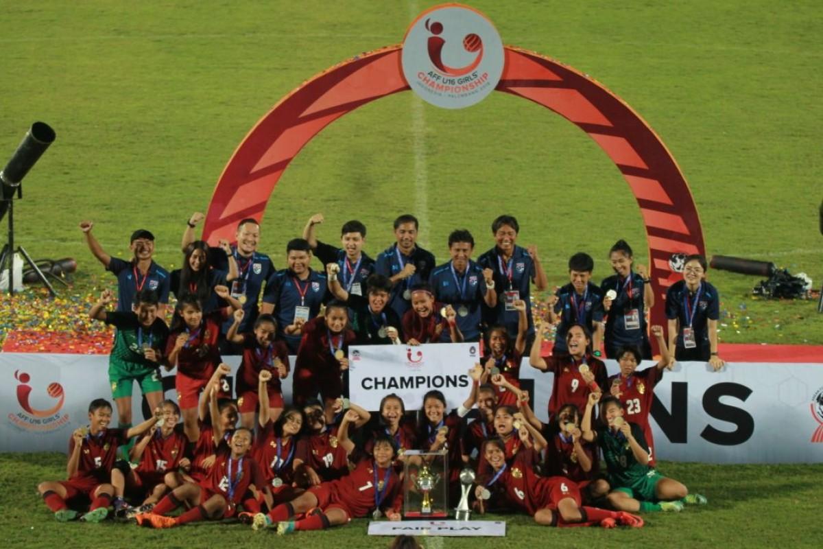 Bungkam Myanmar, Thailand Juara AFF U-16 Girls Championship 2018