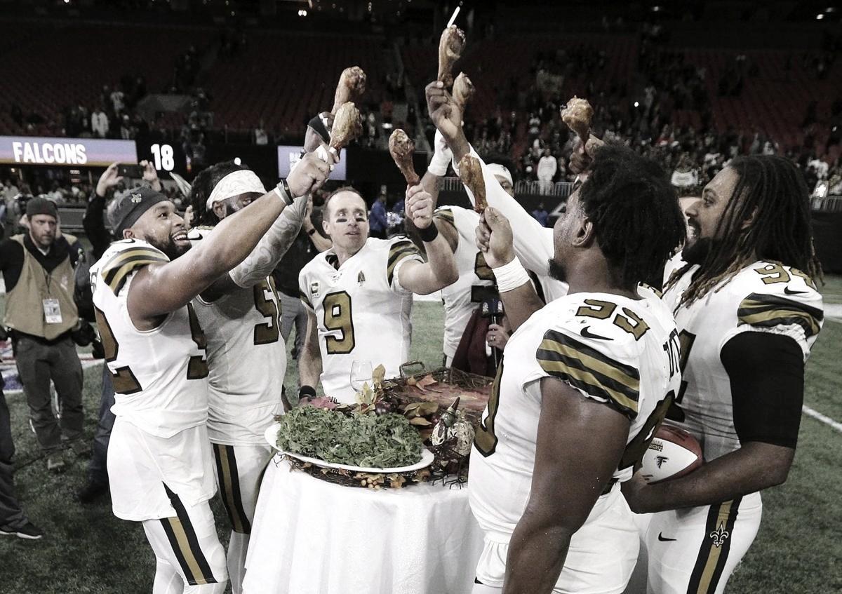 Saints venció a Falcons y aseguró su división