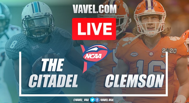 The Citadel Bulldogs vs. Clemson Tigers: Live Stream Online TV Updates and How to Watch 2020 College Football (0-49)