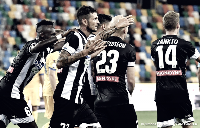Udinese - Vittoria con suspance sul Frosinone (3-2)
