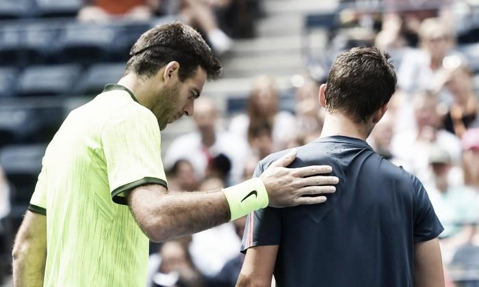 Del Potro vence primeiro set, vê Thiem desistir e vai às quartas de finais do US Open