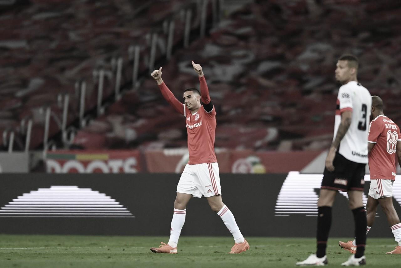 Internacional vence, elimina Atlético-GO e está nas quartas da Copa do Brasil