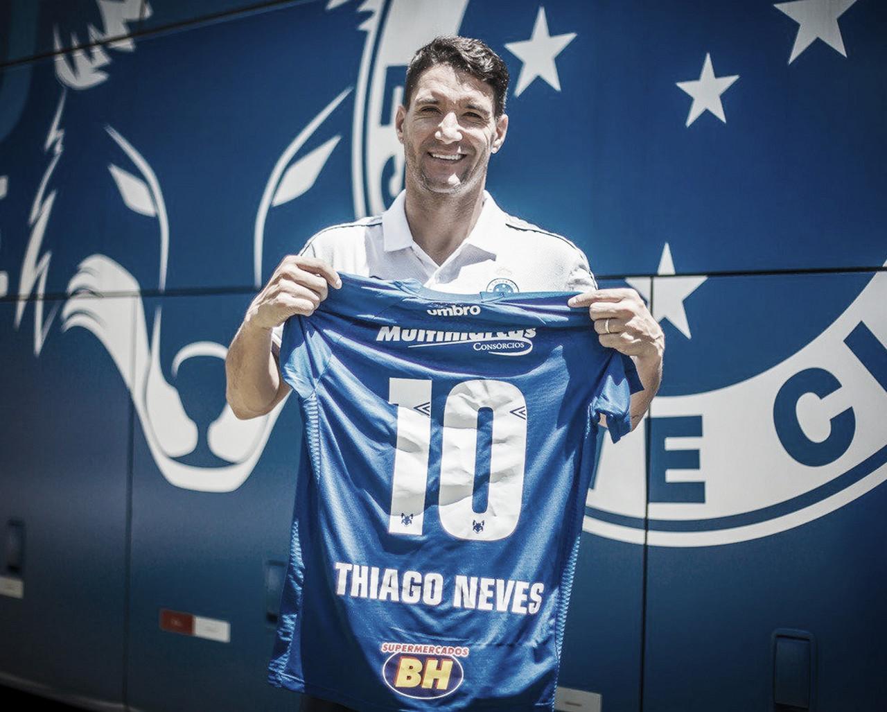 Cruzeiro anuncia Thiago Neves como camisa 10, e numeração de recém-contratados