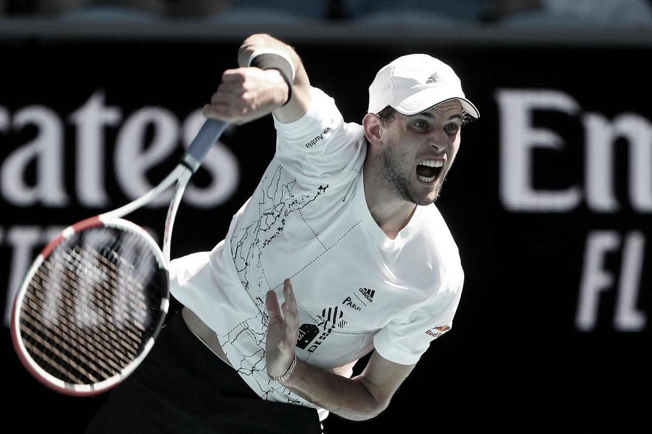 Com direito a pneu, Thiem bate Koepfer e segue campanha tranquila no Australian Open