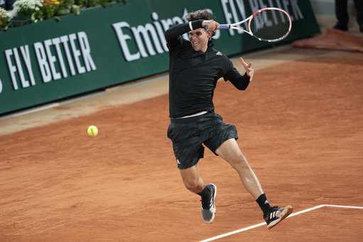 French Open: Dominic Thiem downs Jack Sock to reach round three