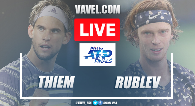 Thiem vs Rublev (0-2) Live Stream Updates and Score in Nitto ATP Finals
