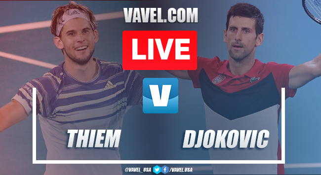 Djokovic vs Thiem Live Stream and Score (6-4,4-6,2-6,6-3, 6-4)