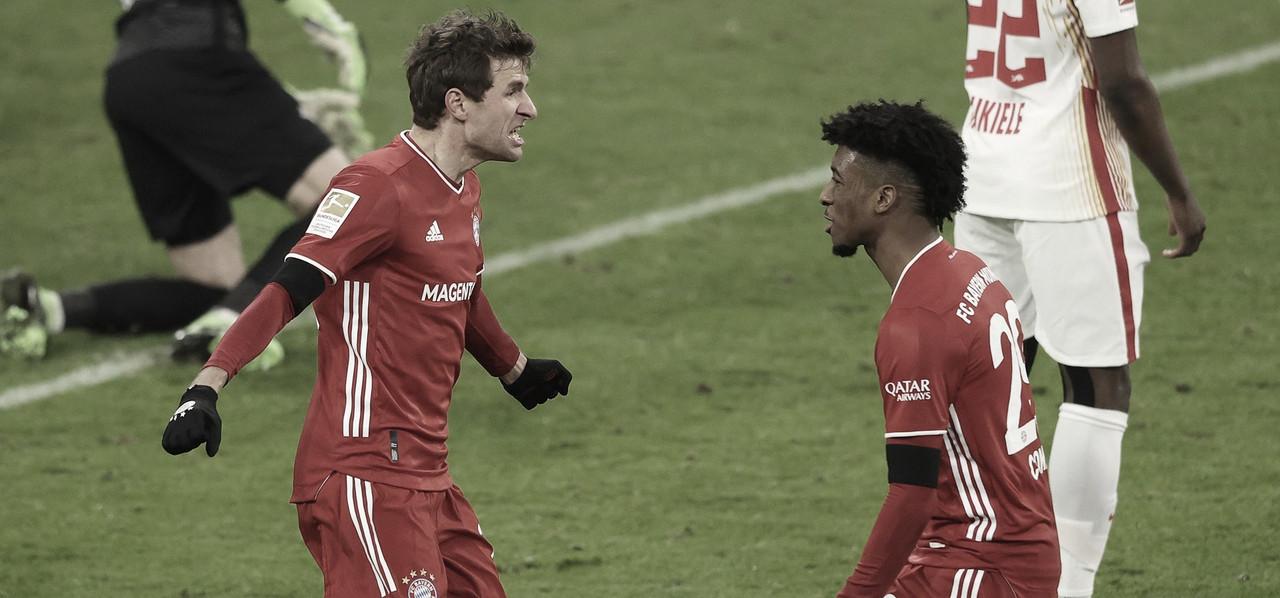 Em jogo de seis gols, Bayern arranca empate com RB Leipzig e segue líder da Bundesliga
