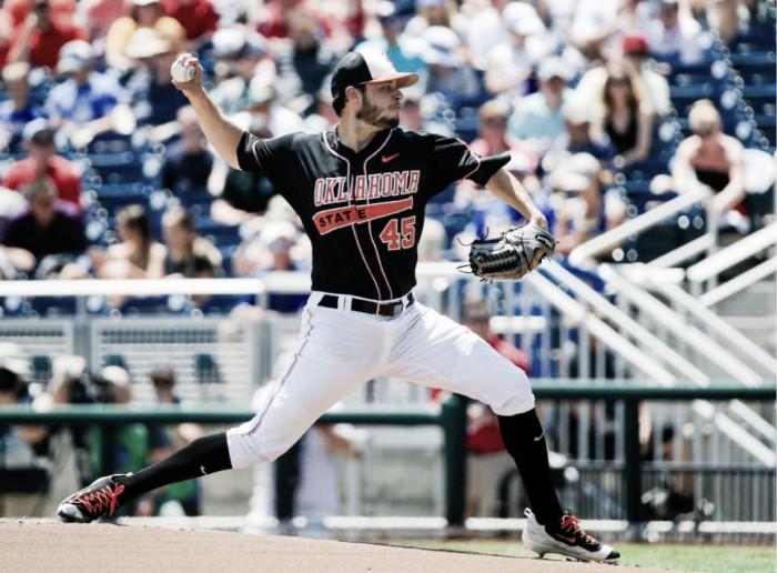 Thomas Hatch out-duels Shane Bieber in College World Series opener; Oklahoma State Cowboys top UC Santa Barbara Gauchos 1-0