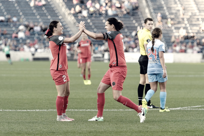 Portland Thorns take the number two spot, defeating the Chicago Red Stars, 3-2
