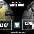 Previa Cádiz CF - Córdoba CF: derbi andaluz con ánimos dispares