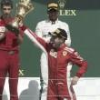 Vettel tiñe Gran Bretaña de rojo