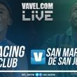 Racing Club vs San Martín de San Juan en vivo AHORA por Superliga Argentina (0-0)