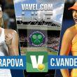 Score Maria Sharapova vs Coco Vandeweghe In The 2015 Wimbledon Quarterfinals (2-1)