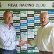 El Racing renueva el patrocinio con agua de Solares
