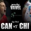 Canadá-Chile: las bajas igualan la eliminatoria