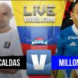 Once Caldas sacó la victoria sobre Millonarios (2-1)